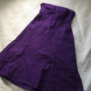 Gap purple strapless dress size 1